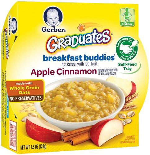 Gerber Graduates Breakfast Buddies - Apple Cinnamon Cereal, 4.5-Ounce (Pack of 8)