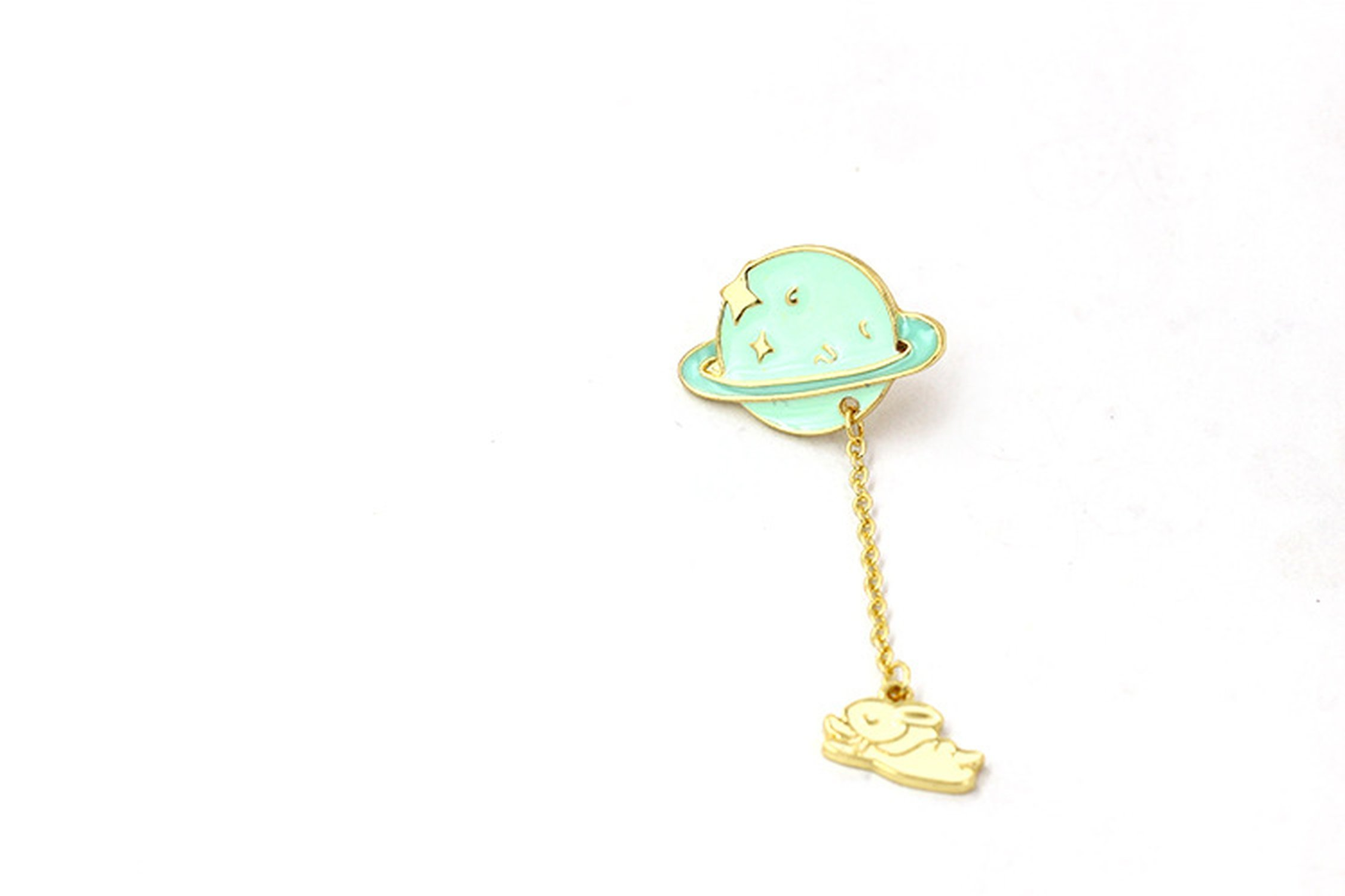 Cosmic Space Whales Cartoon Badge Xionghua Metal Alloy Clothing Collar Pin Drip Brooch,A2