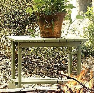 Sur de pino mesa auxiliar (blanco y naranja)