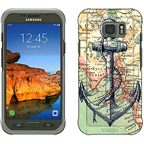 Samsung Galaxy S7 Active Case, Snap On Cover by Trek Nautical Anchor Slim Case Sales