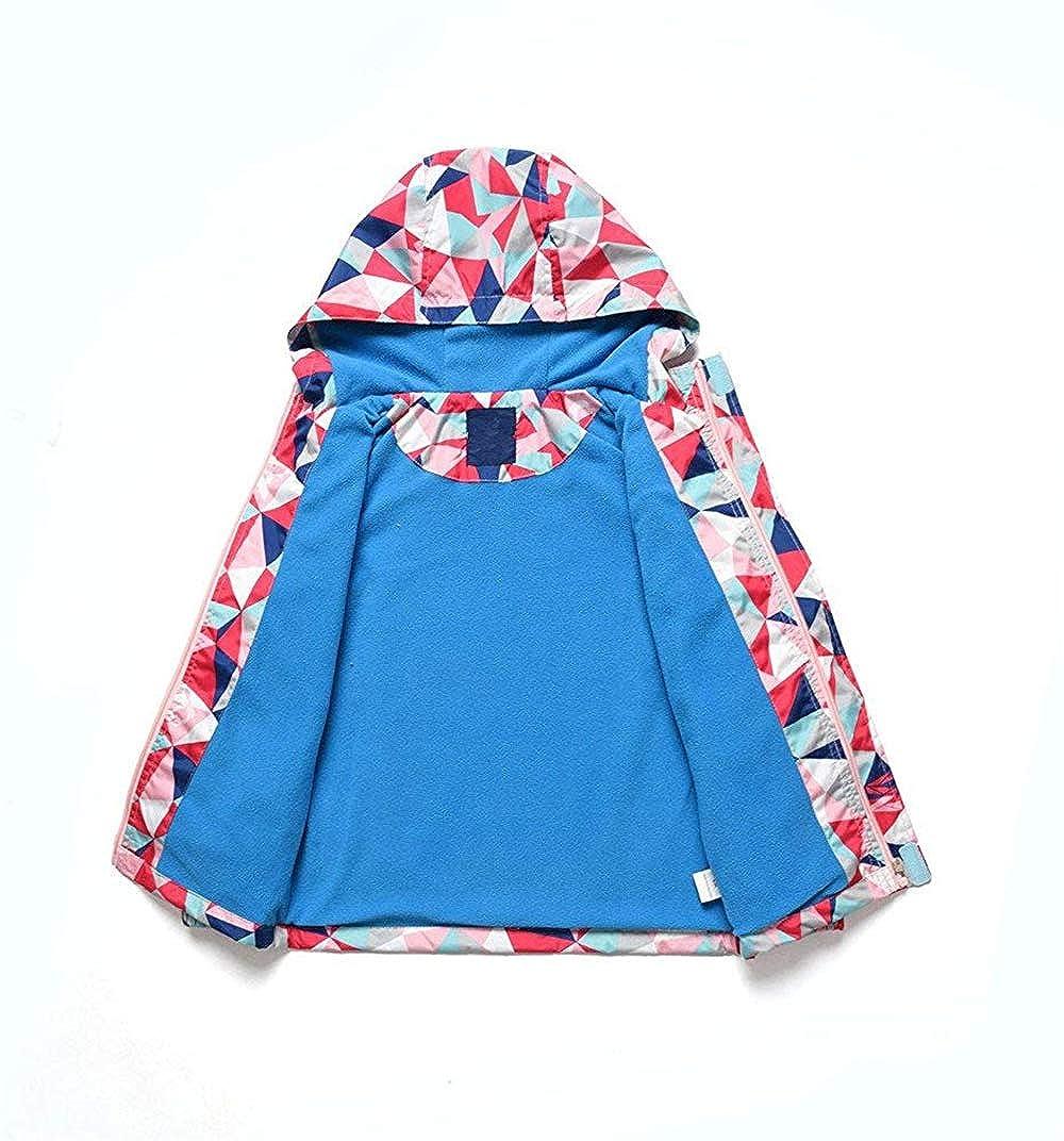 KAOKAOO Little Girls Rain Jacket Coats with Hood