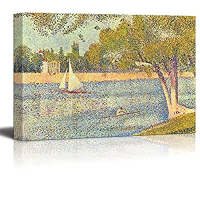 The Seine at La Grande Jatte by Georges Seurat Print Famous Painting Reproduction