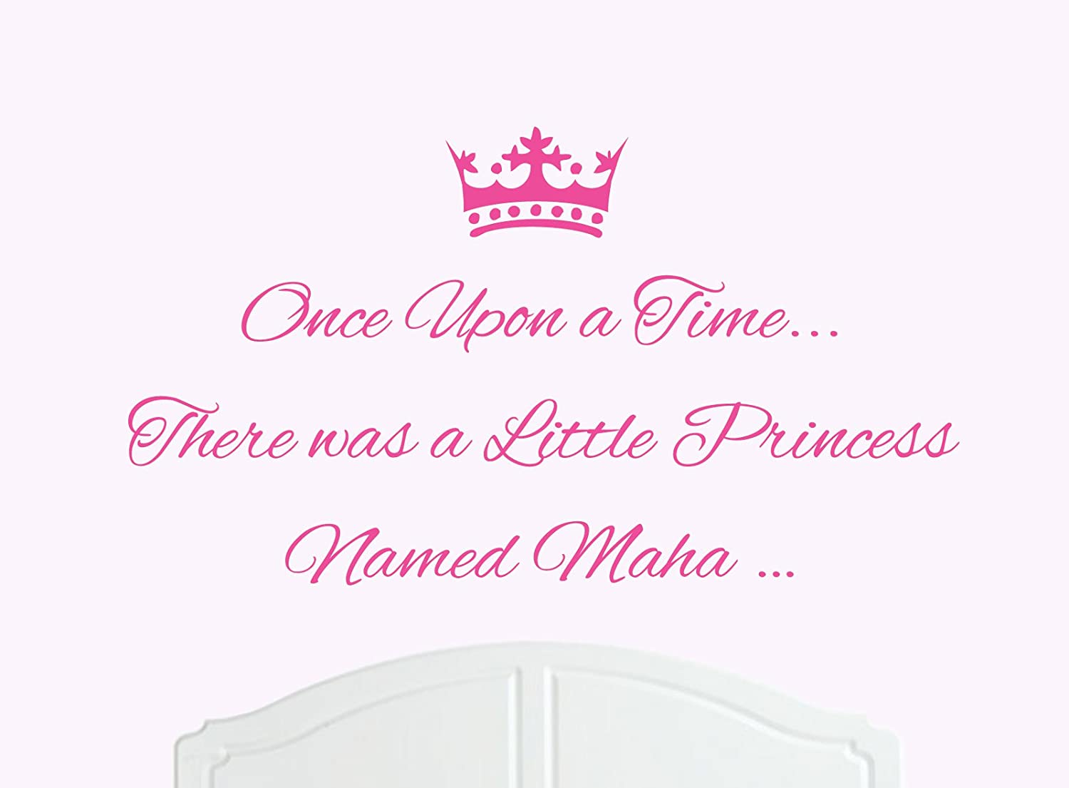 Amazon once upon a time there was a little princess named amazon once upon a time there was a little princess named maha large wall sticker decal bed room art girl baby home kitchen amipublicfo Images