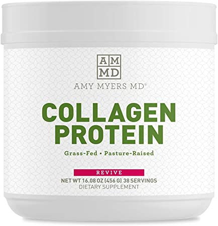 Collagen Peptides Protein Powder Unflavored by Dr. Amy Myers (16 oz) - Grass-Fed Collagen Protein Powder, Non-GMO, Gluten Free, Keto Friendly - Supports Hair, Skin, Nails, Bone & Joint Health