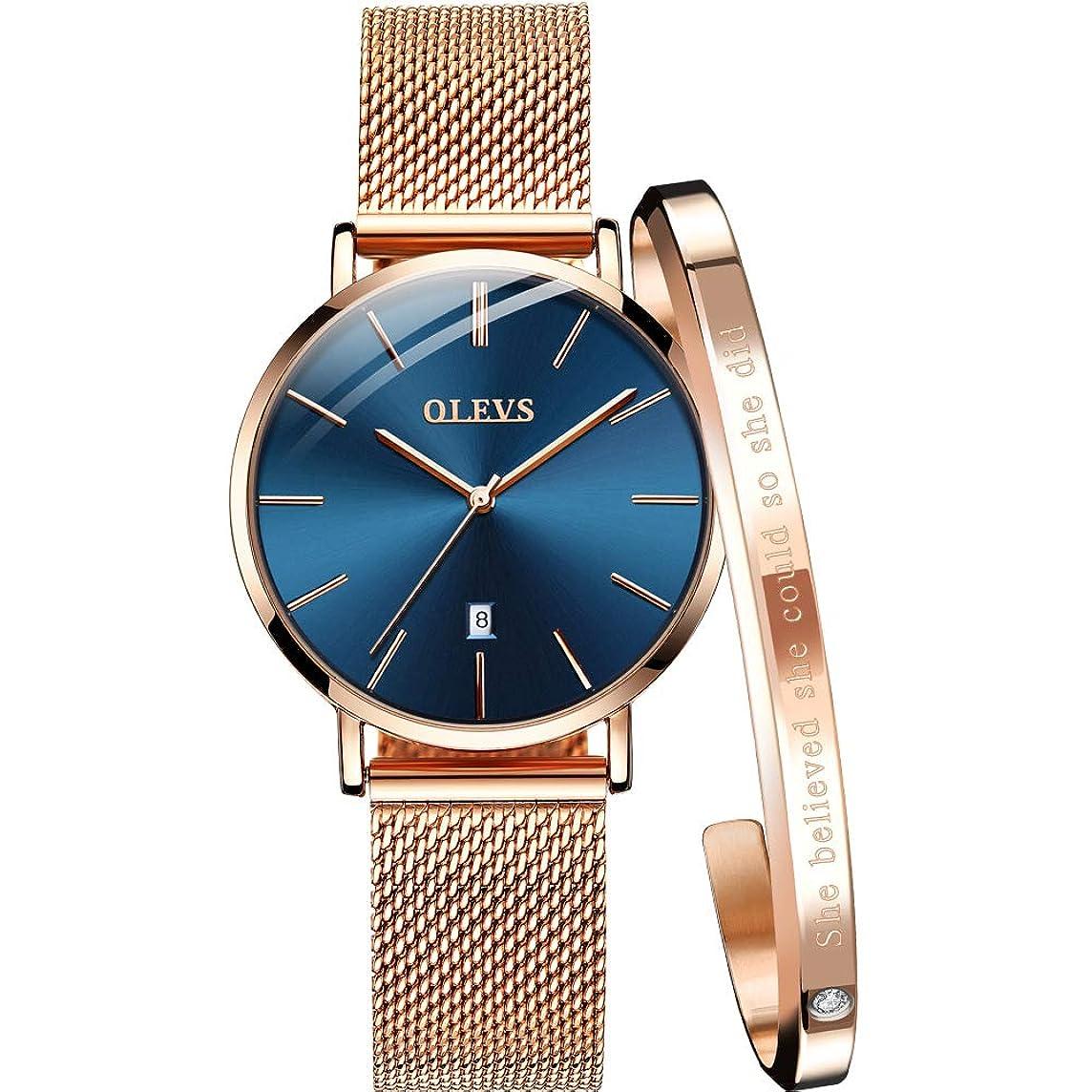 抵抗の慈悲で大惨事腕時計 ウォッチ ユニセックス メンズ レディース かっこいい かわいい スーツ に 似合う (ゴールド)