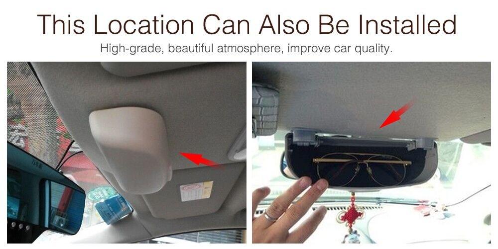 Funda para gafas de coche para Kuga Focus 3 Focus 4 MK3 MK4 Ecosport Fiesta Glasses Case Caja de almacenamiento accesorios