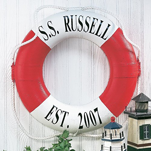 Personalized Red Life Preserver Ring 21