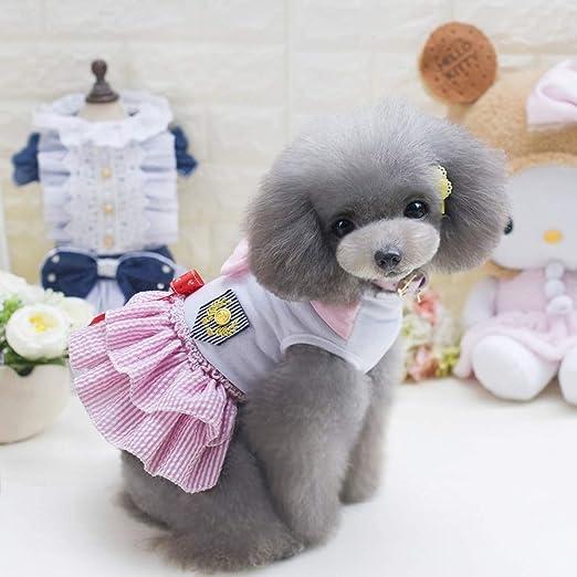 LHY Bowknot Princesa Ropa para Perros pequeños Gatos, pequeño ...