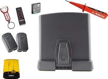 Sommer Runner+ 4019 - Motor de puerta corredera (800 kg, emisor manual 4019, con remolque ADAMS, barrera de luz 7020, luz de advertencia 5069, 5 en 1, SOMloq2, comprobador de corriente ADAMS): Amazon.es: Bricolaje y herramientas
