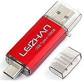 LEIZHAN TYPE-C USB メモリー・フラッシュドライブ 128G レッド 人気USB 高速転送 OTG 3.0携帯電話 コンピューター用 容量不足解消 マイクロペンドライブ 大容量 Uスティック