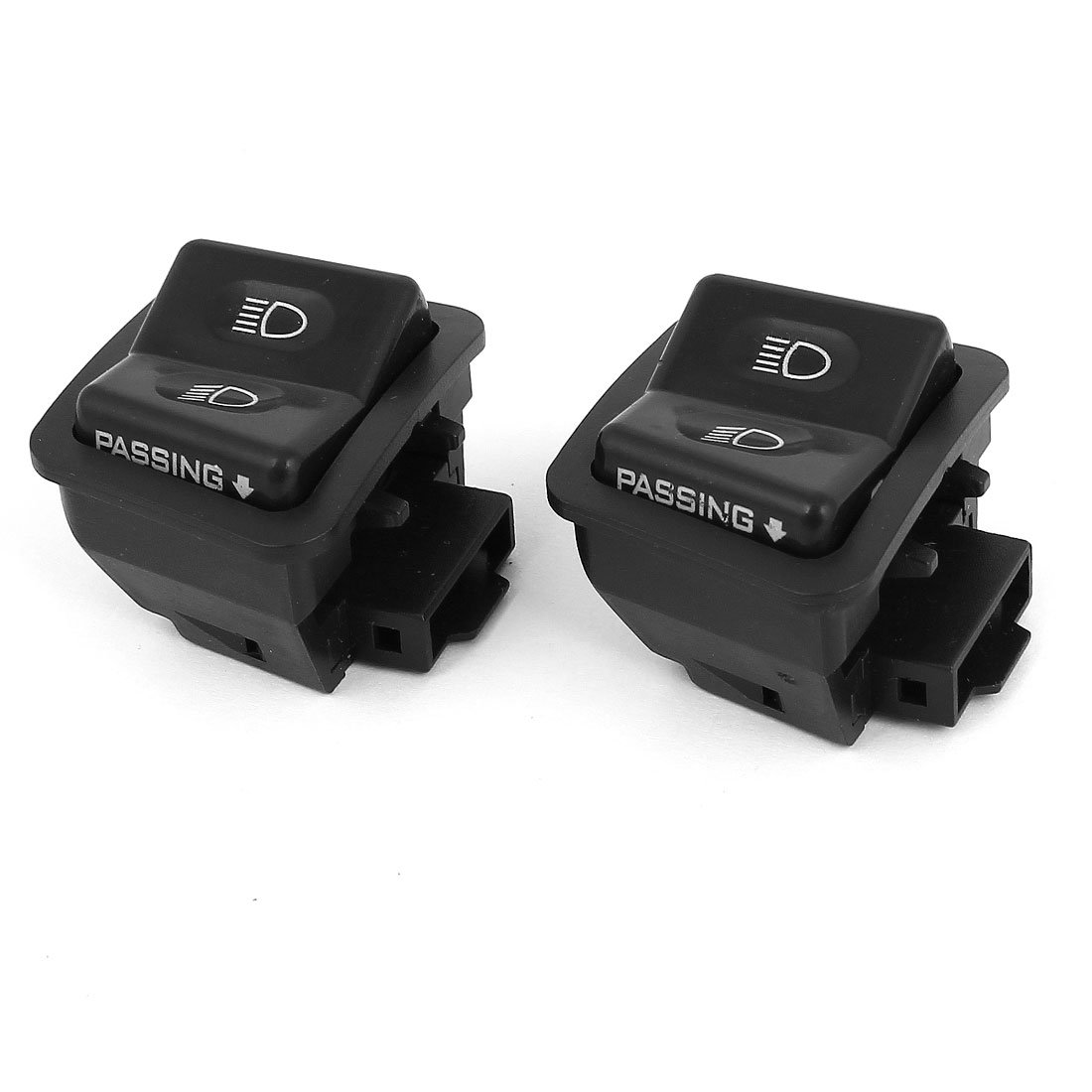 Motorcycle 2 Position Headlight Push Switch 2 Pcs uxcell US-SA-AJD-53070