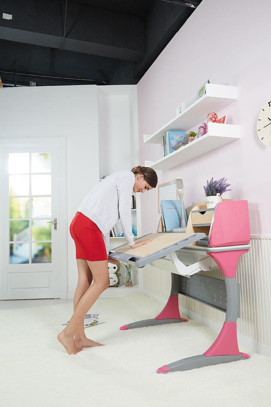 I STUDY Height Adjustable Children Desk Interactive Work Station (Magenta)