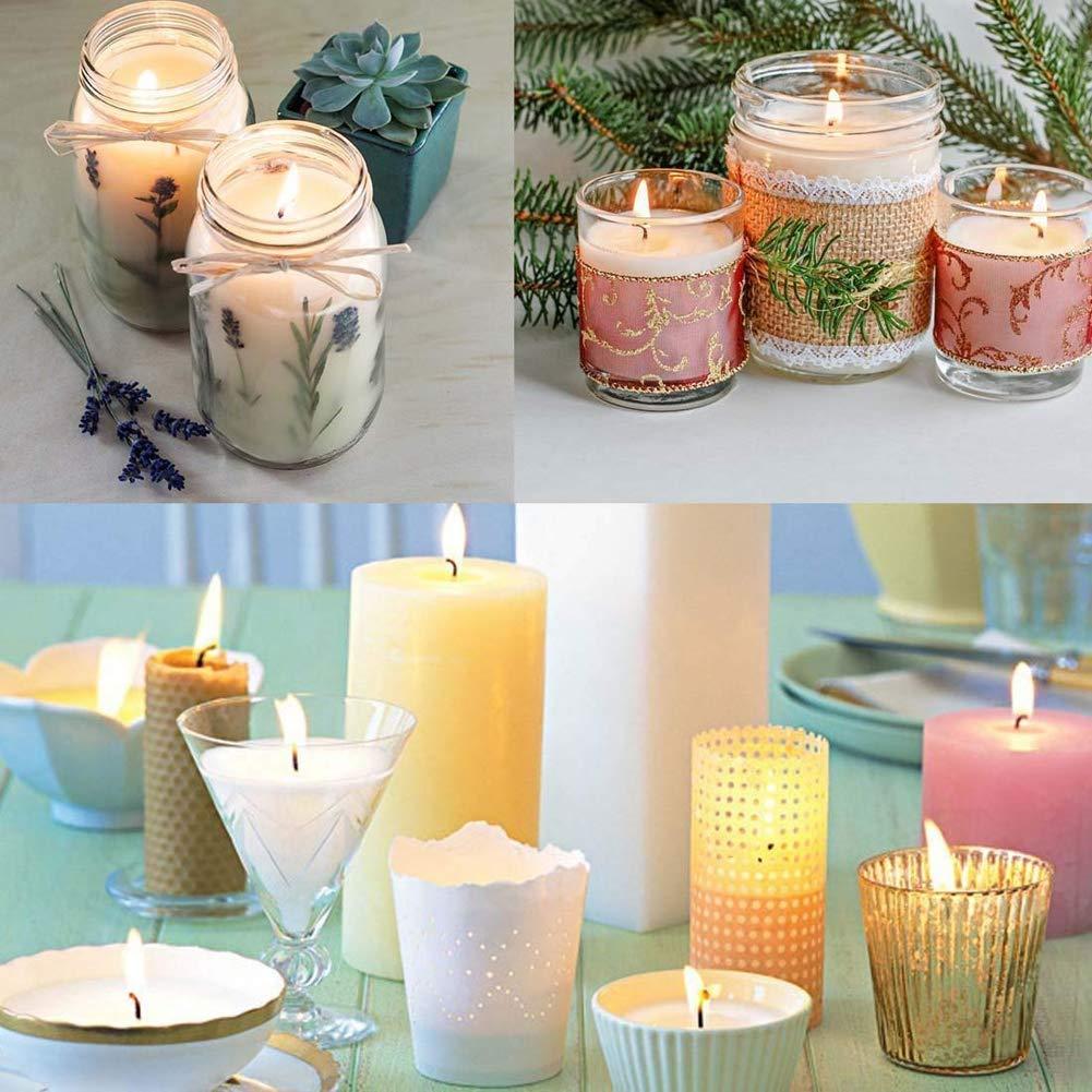 per realizzare candele con anima in 100/% cotone naturale 15 cm di lunghezza 100 pezzi Stoppini per candele a bassa emissione di fumo e naturale
