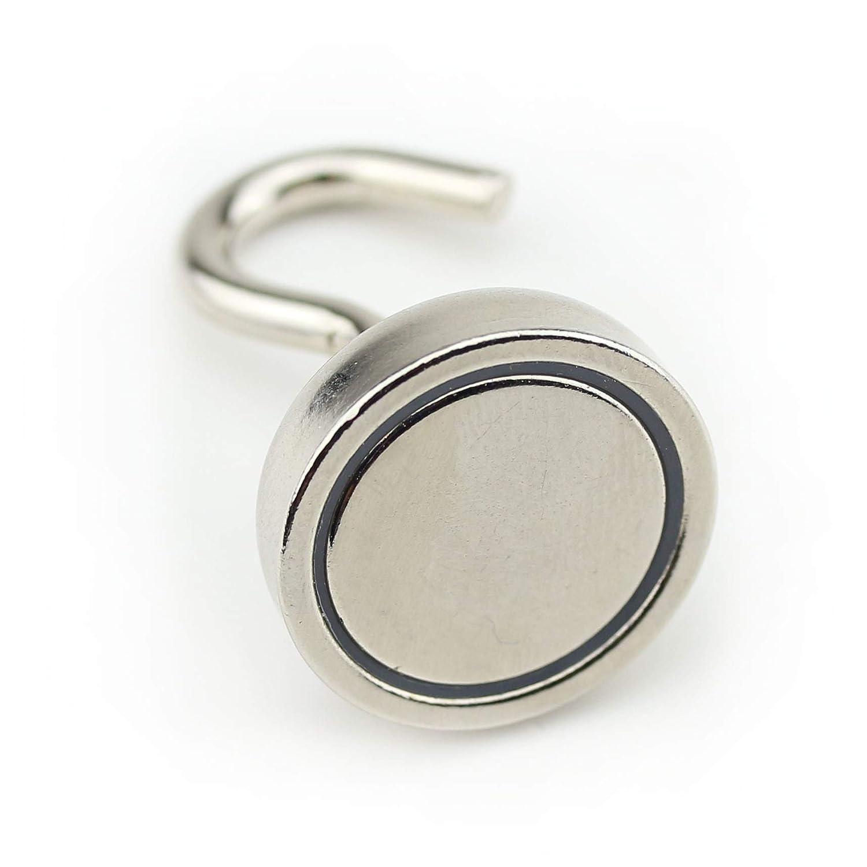 bis 2 kg Haftkraft Neodym Magnethaken mit Haftkraft bis zu 155 kg /Ø 10 mm