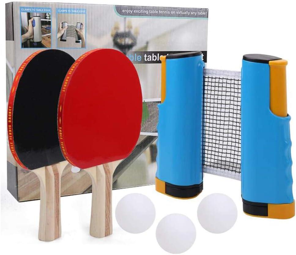 Cubierta Mesa De Ping Pong Set, Práctico Profesional Conjunto Del Ping-Pong Con Retráctil Neto Rack Dos Disparos Y Tres Bolas Adecuado Para Principiantes Y Intermedios Jugadores De Todas Las Edades