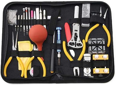 Kit De Reparación Reloj En Estuche Transporte,Kit De Herramienta De Reparación Correa Reloj Incluye Martillo,Kit De Herramienta De Reemplazo De Batería Reloj Para Reparar Varios Relojes(160 Piezas): Amazon.es: Bricolaje y herramientas