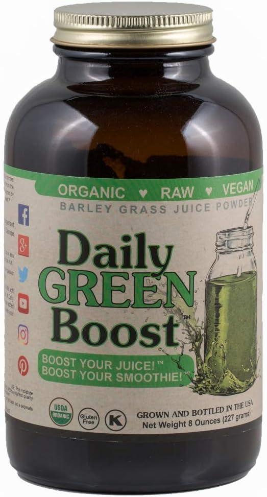 Daily Green Boost 8oz Organic Raw Vegan GF USA Style may vary