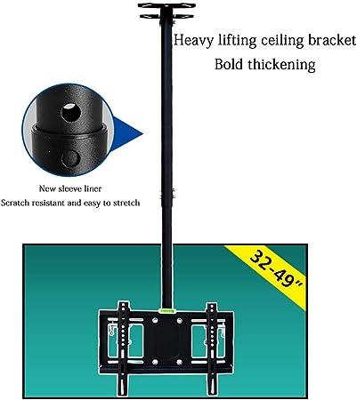 Xinjin Adaptado al Soporte de 32-49 Pulgadas del televisor, Negro y Plateado, Soporte de TV de elevación Resistente, Soporte para Monitor LCD: Amazon.es: Hogar