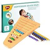 Montessori 1-10 Bead Stair with Holder - Montessori Math Manipulatives Materials - Preschool Learning Educational Toys