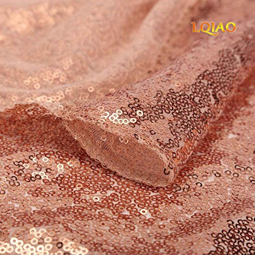 LQIAO Nice 8x10ft Rose Gold Sequin Backdrop Sequin Background Baby Shower/Dance Team Photography Background for Birthday Party Background, Pocket 8x10FT(240x310cm)) by LQIAO (Image #2)