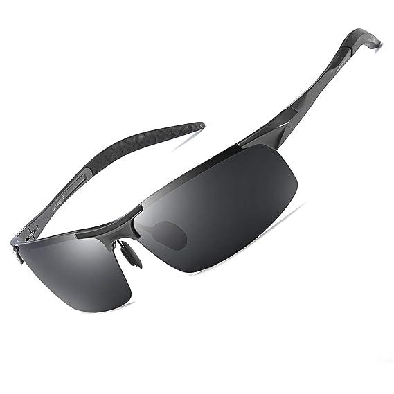 Gafas de Sol Hombre Deportivas Polarizadas -Conducen/Corren/Moto, 100% de