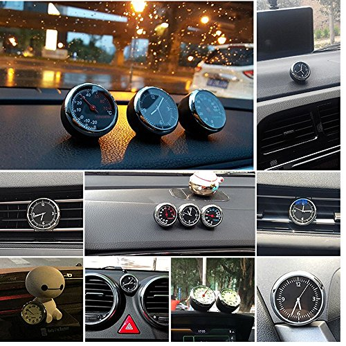 ANKI Table Classic Car Dashboard Small Round Analog Quartz Hygrometer Thermometer Humidity Meter (Luminous Thermometer) by ANKI HappiGo (Image #5)