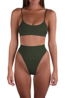 81342ee49c0 ... Two Piece Swimsuit. 3.9 out of 5 stars 35 · $14.99 · Sovoyontee Women  High Leg Cut Thong Bikini Bandeau Swimsuits