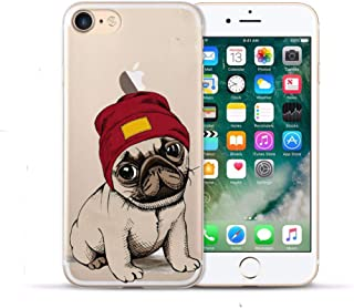 SGFGH&MM Coque Souple en TPU pour Apple Iphone X 5S Se 6 6S 7 8 Plus, Coque Arrière en Silicone Transparent pour iPhone XS Max XR Coque