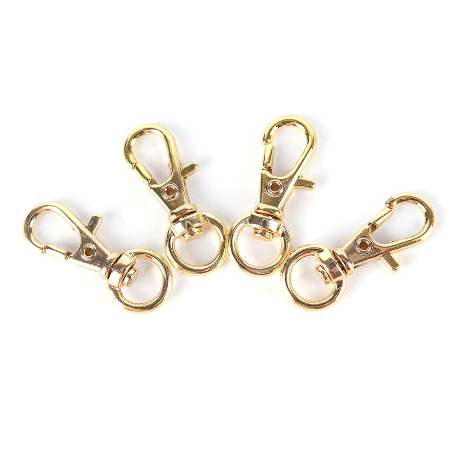 Hulione 10Pcs Mini Rotatable Buckle Hook Lobster Key Chain Metal Carabiner For,Sliver,Onesize