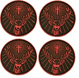 Jagermeister Rubber Coasters Set of 4 Black and