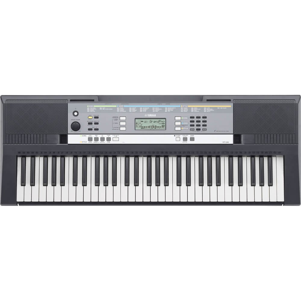 Yamaha YPT240 61-Key Portable Keyboard with Ultra Wide Stereo, iPhone, iPad and