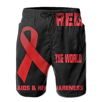 RUITO HIV Men Summer Breathable Quick-Drying Swim Trunks Beach Shorts Cargo Shorts