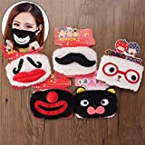 Bazaar Cute Funny Mustache Red Nose Plush Mouth Breathing Mask Cold Dust Clean Windproof Winter Warm Cotton Clown