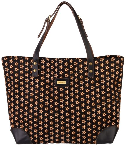 Taschen - Shopper - Handtaschen - goldmarie Canvas Shopper Reversible - in 3 Farben - Stern, Bulldoggen oder Anker Motiv schwarz