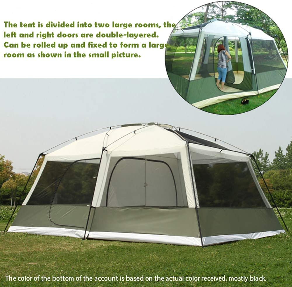 wo Rooms 6-12 Person Large Space Double Layer Waterproof Windproof Super Strong 4 Season Outdoor Camping Family Tent Carpas Outdoor Camping pop up beach Tent Shower Bath Changing Fitting Room Tent