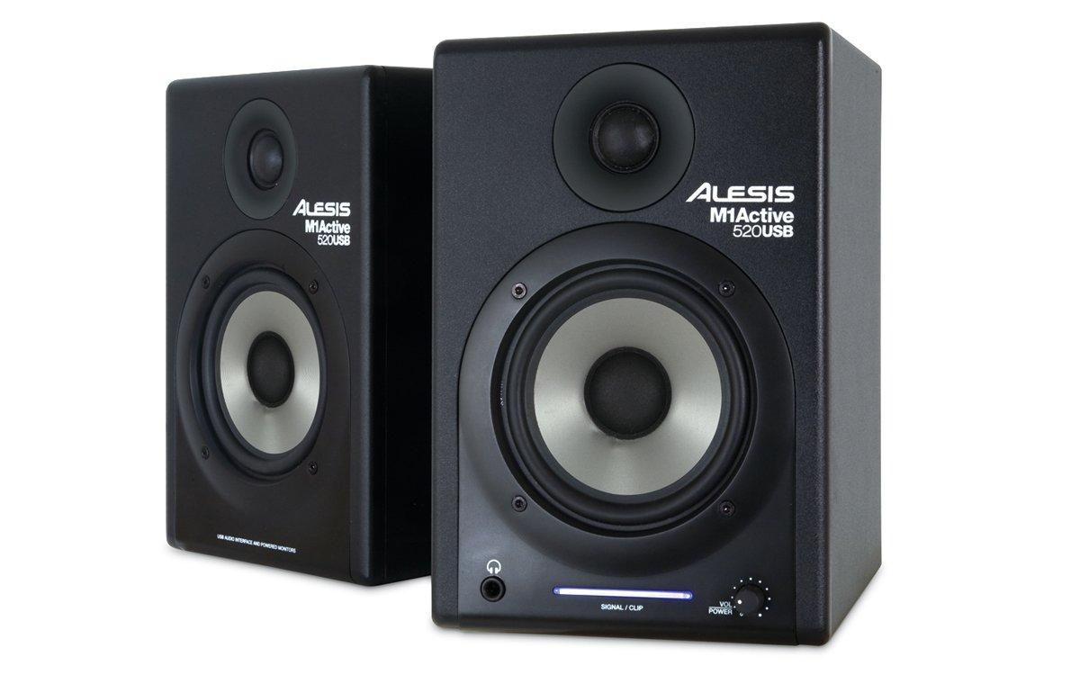 Amazon.com: Alesis M1Active 520 USB Nearfield Studio Monitors with ...