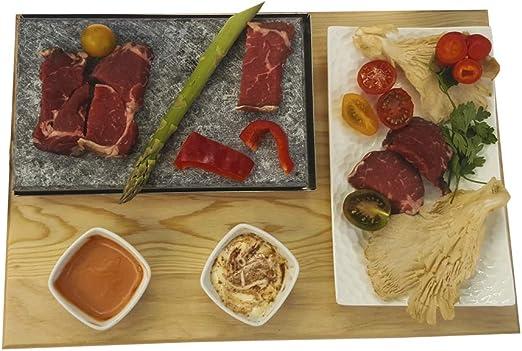 Piedra para carne de 15x20 menú individual: Amazon.es: Hogar