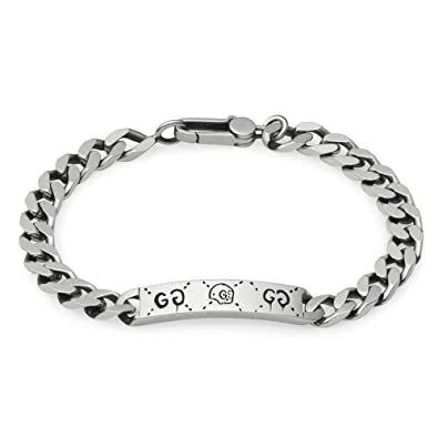 0f29c7f55 Amazon.com: Gucci Men's Ghost Bracelet Silver One Size: Jewelry
