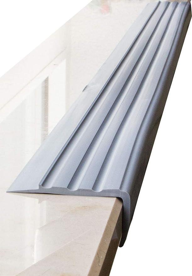 Treppenkantenprofil schwarz Kunststoff PVC 1,10m k/ürzbar Treppenwinkel 1
