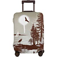 Travel Luggage Cover,Detailed Complex West Coast Scenery In Graffiti Style Isolated Nature Decor Suitcase Protector