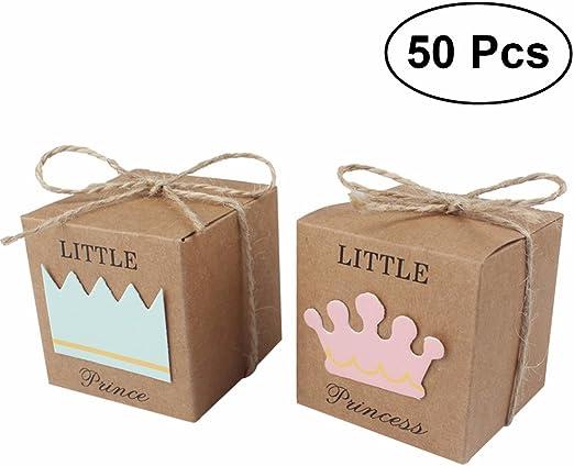 Tinksky 50 unids Cajas de Dulces de Regalo DIY Retro Príncipe con Cuerda para Favor de La Boda del Partido de Regalo: Amazon.es: Hogar