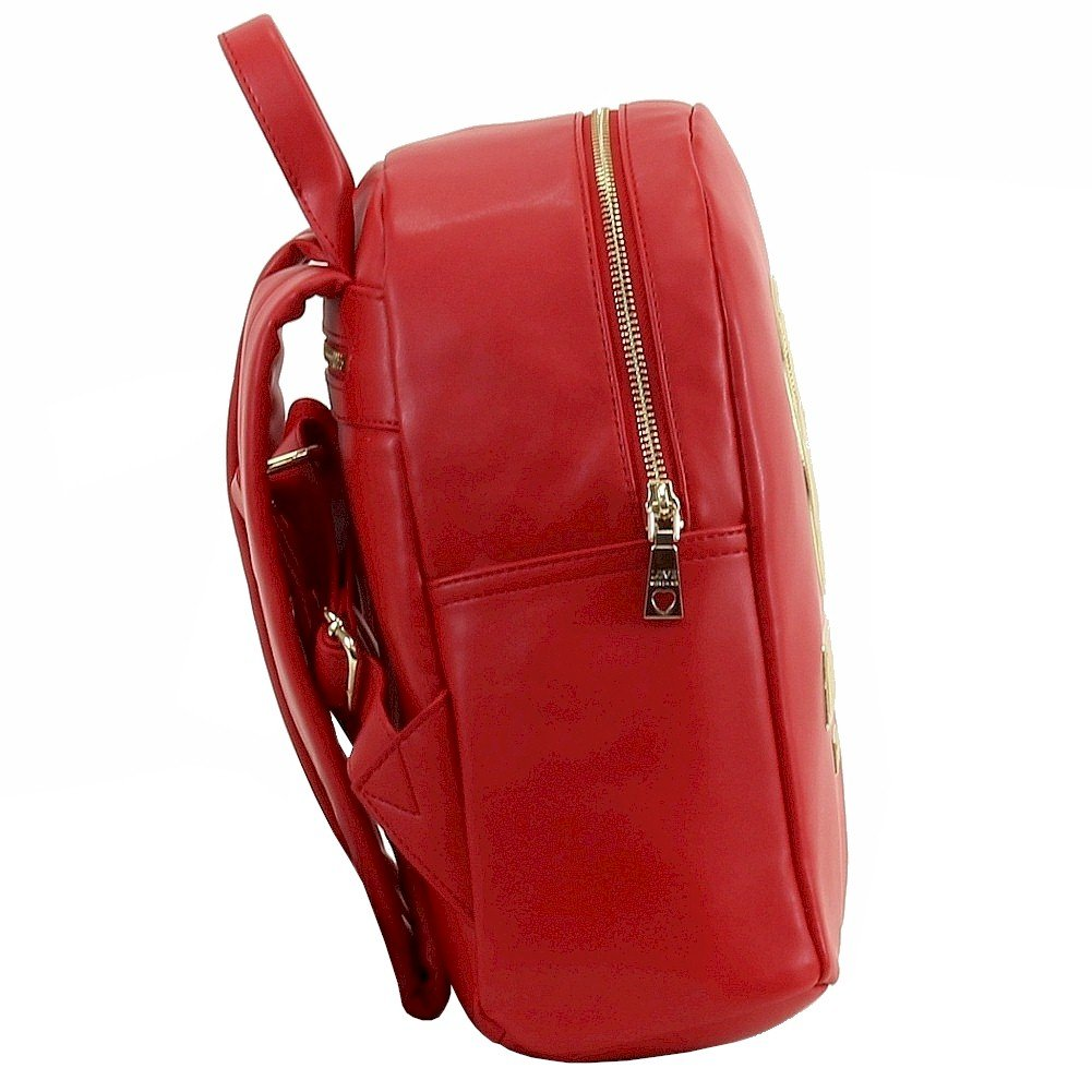 Love Moschino Women's Peace Red Leather Book Bag Backpack by Love Moschino (Image #1)
