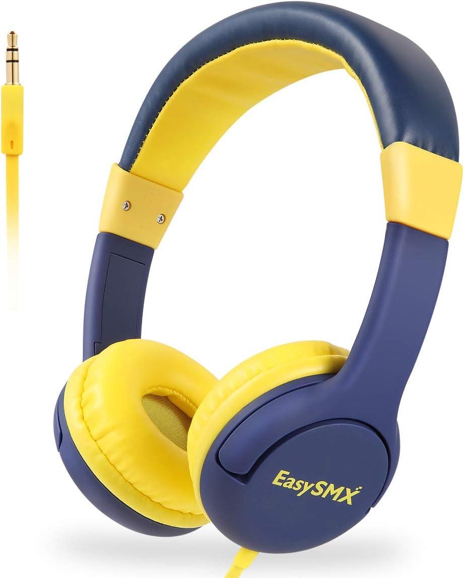EasySMX Cascos Niños, [Regalos Originales] Auriculares para Niños con 3.5 mm Jack, Cascos Infantiles con Cable y Volumen Limitado de 85dB para iPod iPad iPhone(3.5mm) Handy Tablet PC MP3 MP4