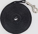 Justzon Cotton Web Dog Training Lead black (20-Feet)