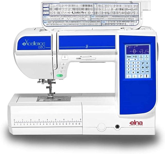 Elna eXcellence 680 Máquina de coser: Amazon.es: Hogar
