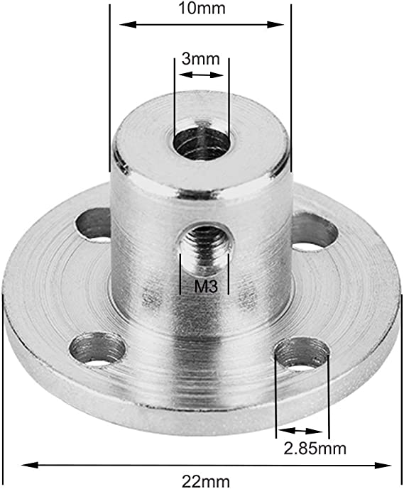 Copper Coupling Transfer Joint 3mm to 4mm Motor Copper Connector Shaft Coupler for Model Ships Robots Wide Application Practical Shaft Coupling Coupler