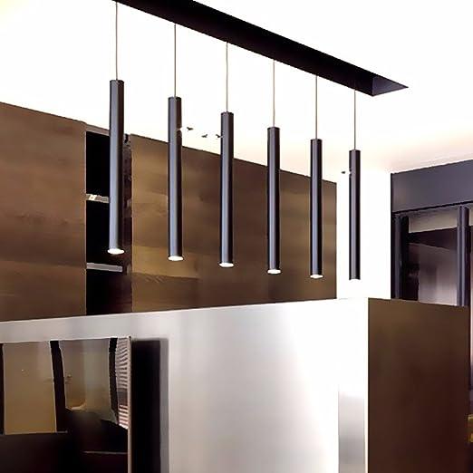 Led Pendant Lamp Lights Kitchen Island Dining Living Room Shop Decoration,  Cylinder Pipe Pendant Lights