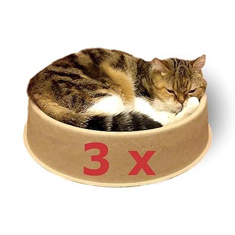KittyDoo Cama para Gatos ComfyCat, Pack de 3 - Sofá, Cáscara para Gatos Circular