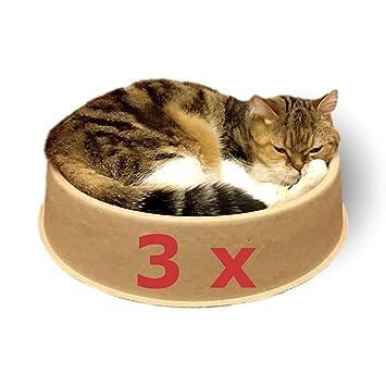 KittyDoo Cama para Gatos ComfyCat, Pack de 3 - Sofá, Cáscara para Gatos Circular, Cómoda, Sana y Resistente a Arañazos: Amazon.es: Productos para mascotas