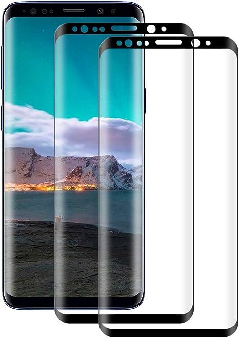 Cristal Templado Samsung Galaxy S8 2-Unidades Cristal Vidrio Templado Premium 9H Vidrio Real No se despega uellas Dactilares Libre POOPHUNS Protector de Pantalla para Samsung Galaxy S8